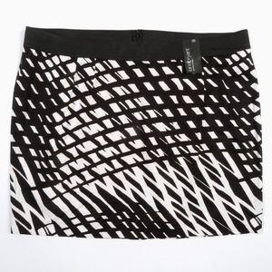 Lane Bryant Pencil Skirt 26W Geometric Artsy NWT